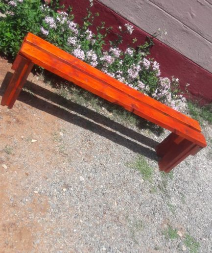 Wooden Bench Set